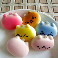 Mini 4cm Cat Squishy Bun Cellphone Straps Kids Soft Bread Toy SE