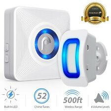 Fosmon 150ft Wireless Home Security Driveway Alarm Door Bell Sensor Alert Chime