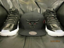 "MITCHELLE & NESS  RED EYE CHICAGO BULLS AIR JORDAN 11 ""72-10  SNAPBACK CAP / HAT"