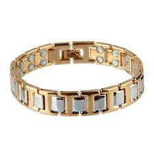 Pure Copper Gold Silver Polished Magnetic Therapy Bangles Bracelet For Men