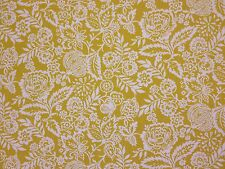 PRESTIGIOUS POLLY MARMALADE YELLOW FLORAL COTTON CURTAIN SOFT FURNISHING FABRIC