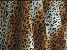 "VELBOA FAUX FUR GOLD LEOPARD ANIMAL PRINT FABRIC SEWING POLY 60"" BY THE YARD"