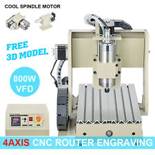 CNC ROUTER 4Axis ENGRAVER 3020 Ball Screw Engraving DRILLING MILLING Machine int