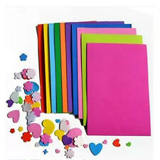 10 Sheets Multicolor A4 Sponge EVA Foam Paper Funky Kids Handmade DIY Hand Craft
