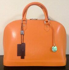Special Price NWT Pulicati Italian Safiano/Epi Leather Orange Satchel Handbag