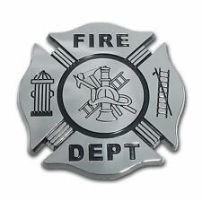 Firefighter Black and Chrome Car Auto Truck Emblem Made in the USA! (NEW)