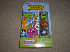 New Rose Art Moshi Monsters Fun Pack Pencil & Pouch Set Ecto Chop Chop Humphrey