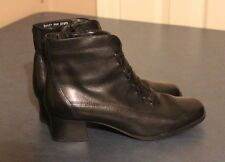 Classic Elements BAILEY Ankle Boot Black Lace Up LEATHER size 7.5M US