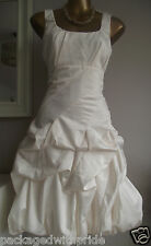 BNWT CARMEL IVORY RUFFLE HITCHED UP PROM PARTY 20's WEDDING BRIDAL DRESS 14