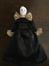 """Antique German 6"""" Doll House  Smiling China Lady Doll LOVELY"""
