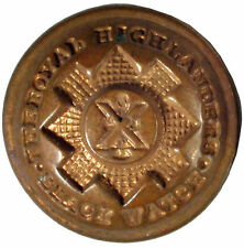 WORLD WAR I. GEORGE V. THE ROYAL HIGHLANDERS BLACK WATCH REGIMENT  BUTTON  #129