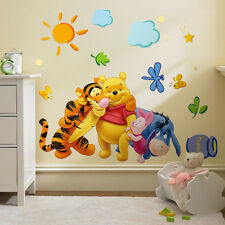 Cute Winnie the Pooh Nursery Room Art Wall Decal Decor Stickers For Kids Baby A0