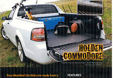 HOLDEN  RUBBER UTE MAT  VE   2006 ON ENTIRE RANGE OMEGA,SS,SV6,SSV,MARLOO, HSV
