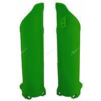 Kawasaki KXF250 2006 2007 Fork Guards Protectors Covers Green KX250F KXFVE0006