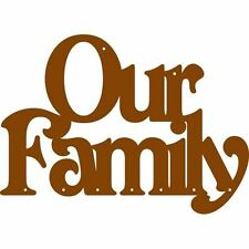 Our Family hanging plaque sign for craft and decoupage, laser cut 3mm MDF