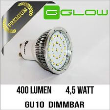 Gu10 LED regulable/400 lúmenes a 4,5 vatios/blanco cálido/230v SMD spot lámpara