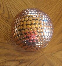 "Decorative 4"" Wood and Copper Ball Copper Bead Wooden Sphere Orb Globe"