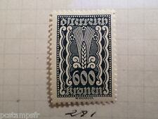 AUTRICHE AUSTRIA, 1922, timbre 281, ARMOIRIES, neuf*, OSTERREICH VF MH STAMP