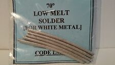 Low Melt 70 Deg. Solder for White Metal - 25gms Pack