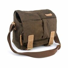 Waterproof Canvas Camera Messenger Shoulder Bag DSLR Case For Canon Nikon Sony