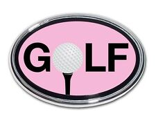 """Golf Ball """"O"""" Pink and Chrome Car Truck Emblem Quality Made in the USA *NEW*"""