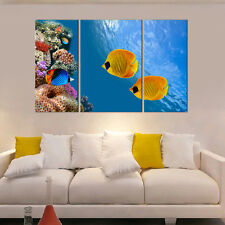 "Abstract HD Canvas Print home decor wall art painting- ""Coral Sea Fish"" Unframed"