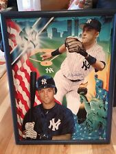 Derek Jeter Signed Limited Edition Giclee On Canvas