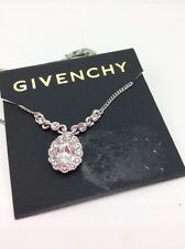 $42 Givenchy Pear Crystal Necklace  #408
