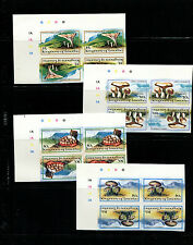 Lesotho 1983 Mushrooms Scott 390-3 IMPERF MATCHED TETE BECHE BLOCKS OF 4