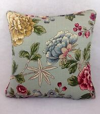 """William Morris Tangley 22069 eggshell/red Cushion Cover Self Piped 16"""" x 16"""""""