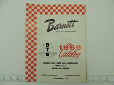 Vintage 1959 Barnett Motorcycle Parts Catalog Harley Indian BSA Norton L1189