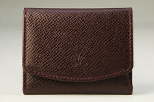MINT Auth LOUIS VUITTON TAIGA Tie Pin Case Leather Brown Free Ship _FR 666k26