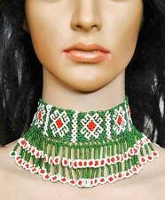 OLD CHOKER BANJARA KUCHI BEADED TRIBAL GYPSY BELLYDANCE NECKLACE