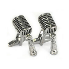 Vintage Style 1950s Microphone Cufflinks RCA elvis the king jazz musician AJ056