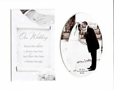 "Our Wedding Keepsake Photo Frame Album Scrap Book Card Mount 10"" X 8"""