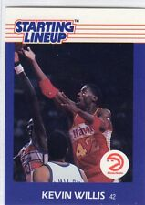 1988  KEVIN WILLIS - Kenner Starting Lineup Card - Atlanta Hawks