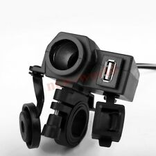 NEW WATERPROOF 12V USB MOTORCYCLE POWER PORT SOCKET CHARGER OUTLET FOR PHONE GPS