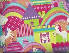 Unicorn Town fantasy Michael Miller fabric by the yard