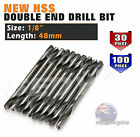 "10PC 30PC 100PC 1/8"" HSS DOUBLE ENDED DRILL BIT END SET 3.2MM ALUMINIUM STEEL"