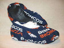 Men's NFL (BRONCOS)  bowling shoe covers.Handmade. Lined with vinyl soles.