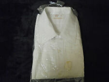 """Vintage NEW """"WHITE"""" pleats after six 18/33 65% polyester 35% cotton  """"OLD STOCK"""""""