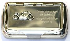 Super Motor Bike 2 Tobacco Hand Rolling Cigarette Roll Ups Tin Race Rider Gift