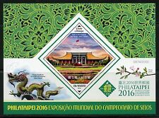 SAO TOME 2016 PHILATAIPEI WORLD STAMP CHAMPIONSHIP EXHIBITION S/SHEET  MINT NH