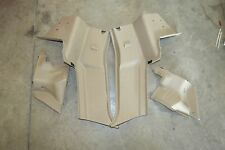 1999-2005 MAZDA MIATA MX5 OEM PARCHMENT PILLAR SEAT BELT TOWER PANEL COVER PAIR