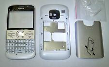 Housing Fascia Faceplate case Cover Facia for nokia E5 White with keypad