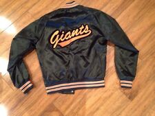 VTg San Francisco SF Giants Satin Jacket ChalkLine Blk Sz M Mint HTF Starter