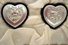 """BABY KEEPSAKE """"FIRST CURL & FIRST TOOTH"""" SET IN WHITE SATIN LINED GIFT BOX BN"""