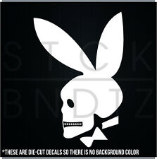 SKULL PLAY BOY USA JDM FUNNY DECAL STICKER MACBOOK CAR TRUCK MOTORCYCLE WINDOW