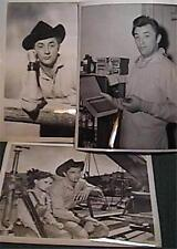 "3 LOT 1940s ROBERT MITCHUM GLOSSY 8 X 10""  OFFICIAL PHOTOS WESTERN VERY GOOD"
