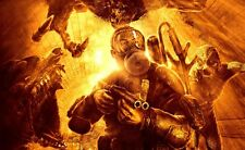 POSTER METRO 2033 REDUX 2034 LAST NIGHT ARTYOM MOSCA HORROR VIDEOGAME PC PS4 #1